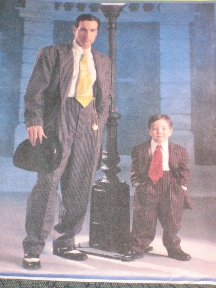 McCall\'s 3793 Men\'s & Boy\'s Zoot Suit Costume Jacket Pants Tie ...