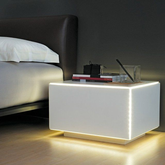 C Light Bed Side Table By Proma Products Side Tables