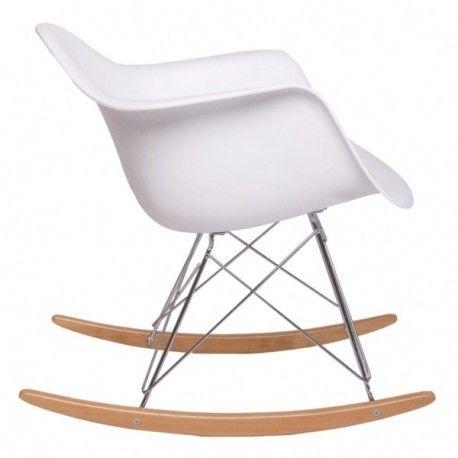 Silla mecedora tower con balanc n asiento abs estructura for Eames replica schaukelstuhl
