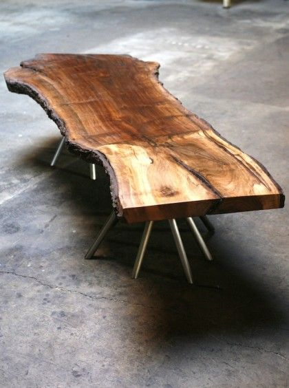 Walnut Slab Coffee Table Rough Cut Furniture Etc Pinterest Walnut Slab