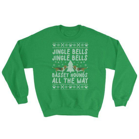 Basset Hound Ugly Christmas Sweatshirt Products Pinterest