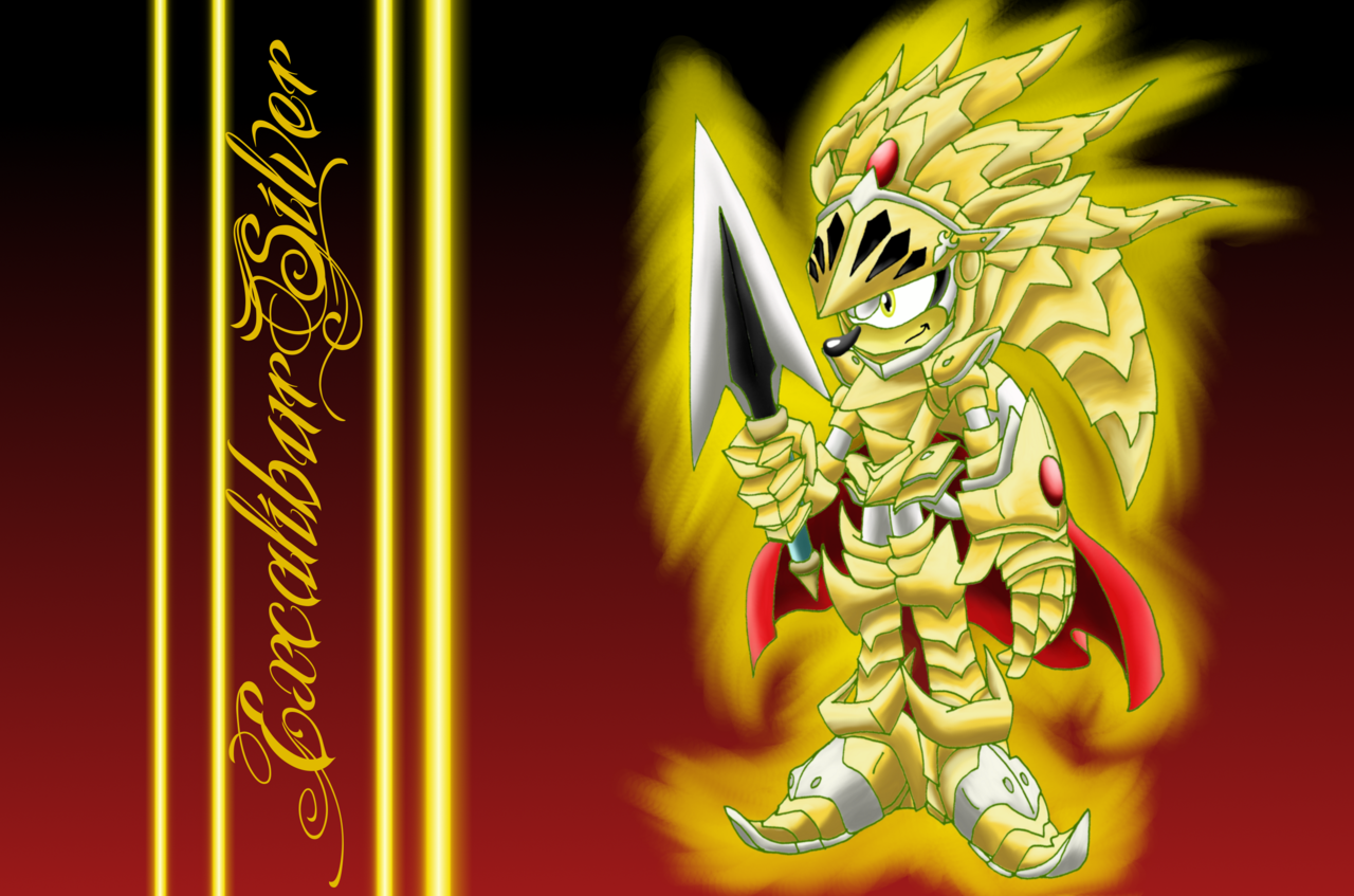 Excalibur Silver Wallpaper Hedgehog Art Sonic Fan Art Silver Wallpaper