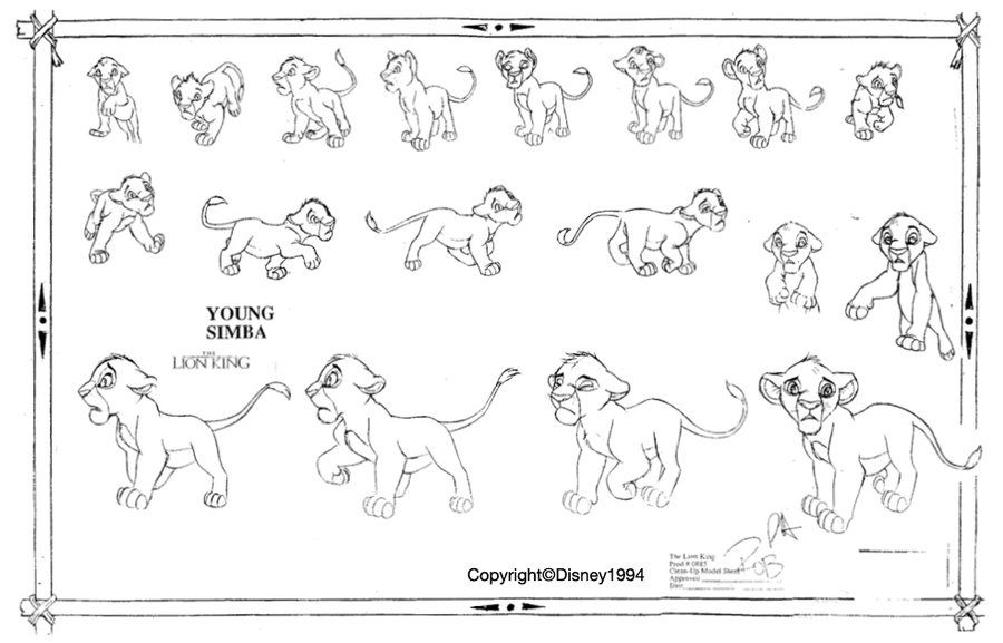"Character Design Lion King : ""the lion king walt disney animation studios"