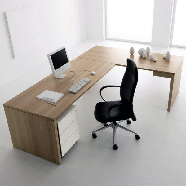 Grand Bureau Maison En Forme De L Office Desk Designs Office Table Design Office Interior Design