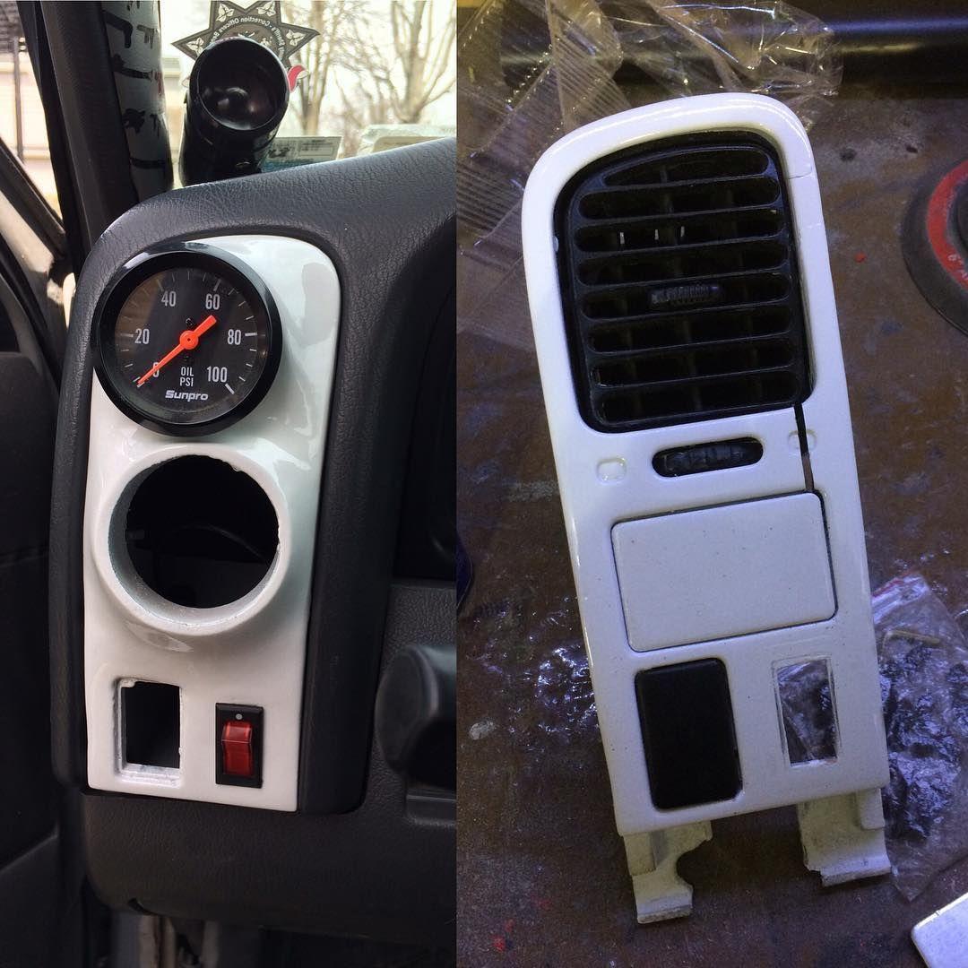 Finally Got Around To Finishing My Gauge Pods Nissand21 Nissanhardbody Cjmotoring Customfab Nissan Hardbody Car Interior Truck Accessories