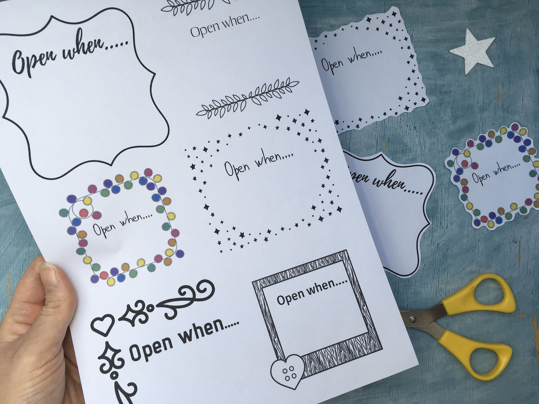 Printable Open When Stickers For Open When Envelopes Digital Etsy In 2020 Open When Letters Open When Envelopes Open When