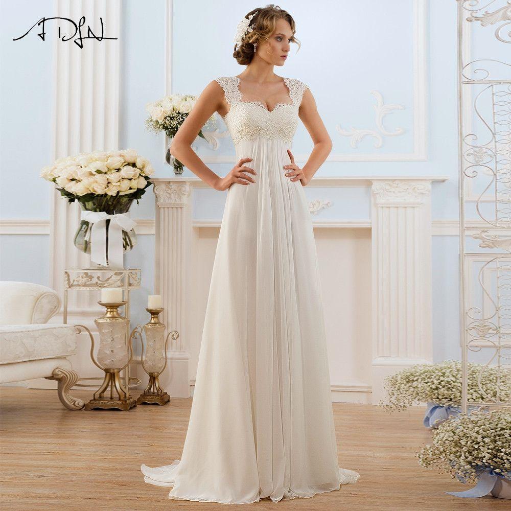 Adln new arrival stock lace wedding dresses beach vestido de