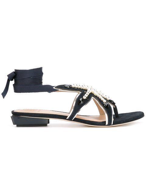 TORY BURCH Seashore Flat Sandals. #toryburch #shoes #flats