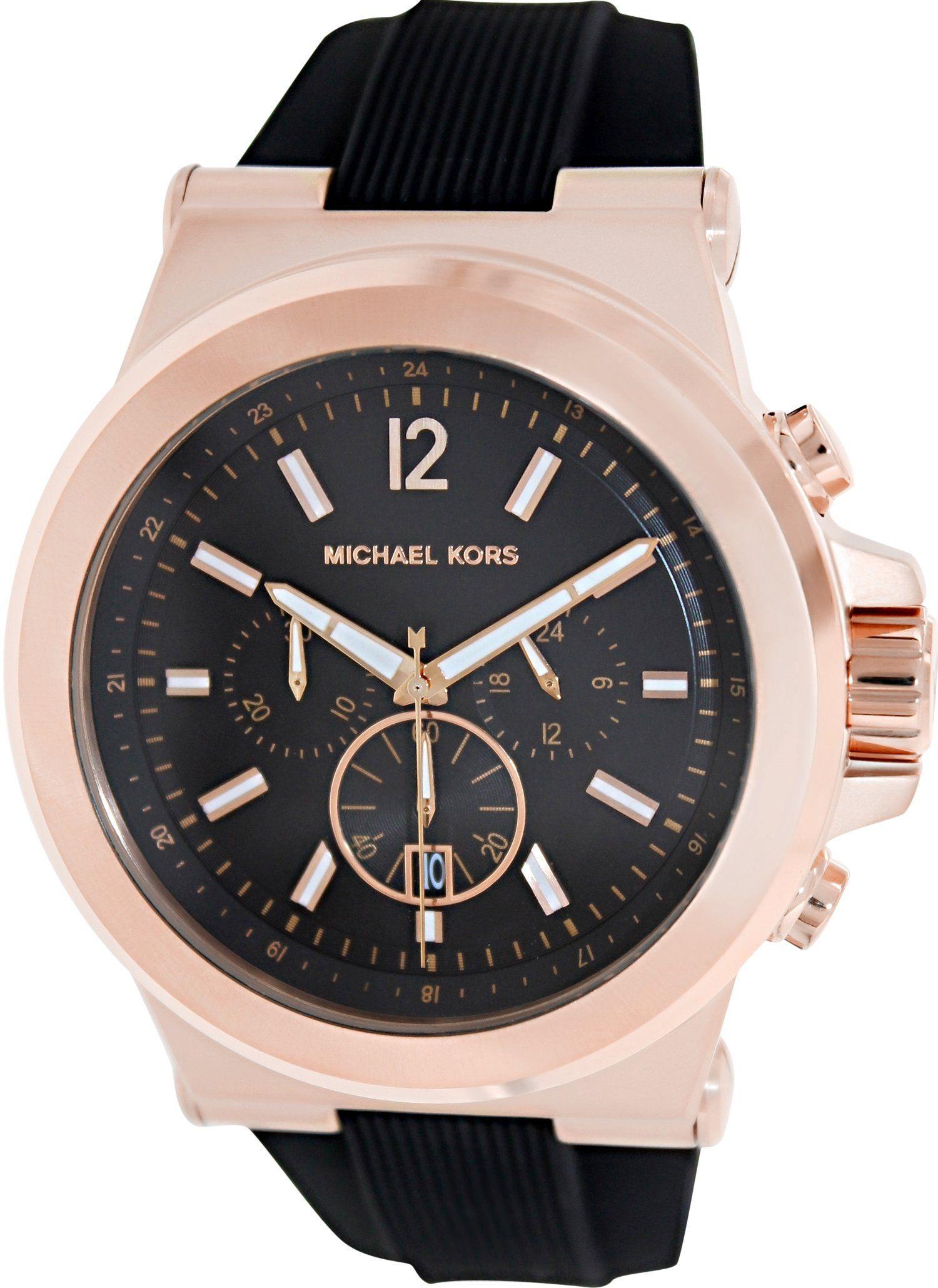 $136.00 - Amazon.com: Michael Kors MK8184 Men's Classic Watch Dial: Black chronograph: Michael Kors: Clothing