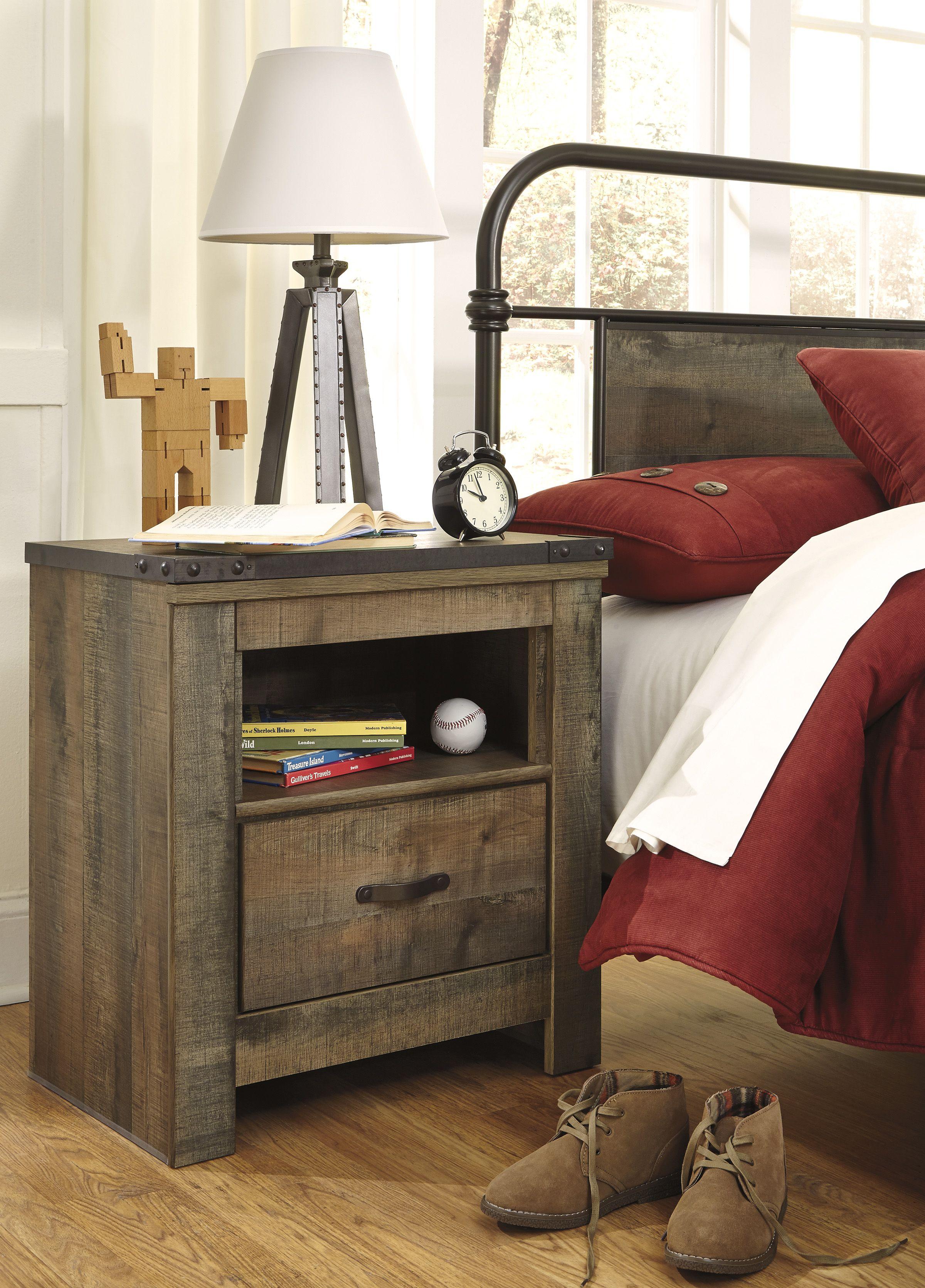 Trinell Nightstand Rustic nightstand, Bedroom night