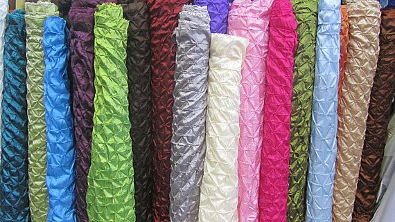 3 Yds Of Button Taffeta Fabric In Assorted By
