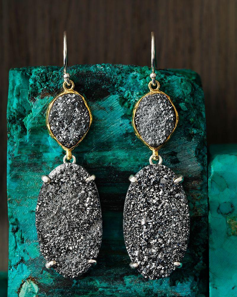 Glisten Up Earrings Jewelry by Silpada Designs Great texture