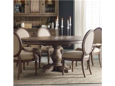 Shop For Hooker Furniture Miramonte Inch Round Pedestal Dining - 54 inch round pedestal dining table with leaf