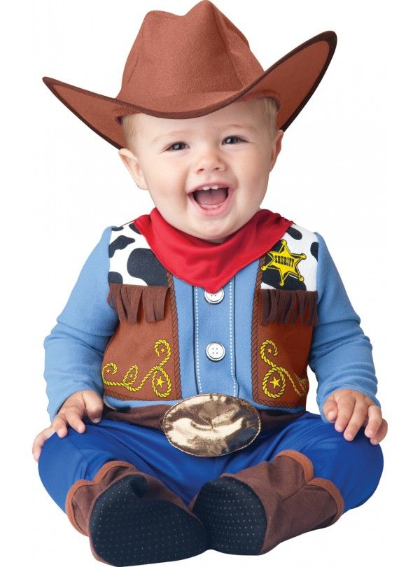 wee wrangler infanttoddler costume includes a cowboy hat fringed jumpsuit with printed vest snaps for easy diaper change and attached booties with skid - Diaper Costume Halloween