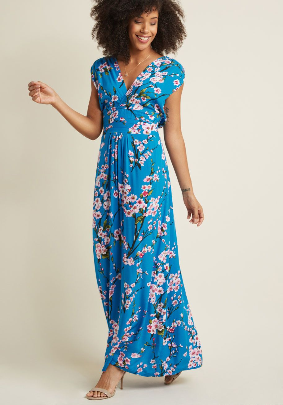 f209b0b3f4 Feeling Serene Maxi Dress in Cherry Blossoms - Glide through your day  feeling dreamy as can be in this printed maxi dress! An ethereal print of  soft pink ...