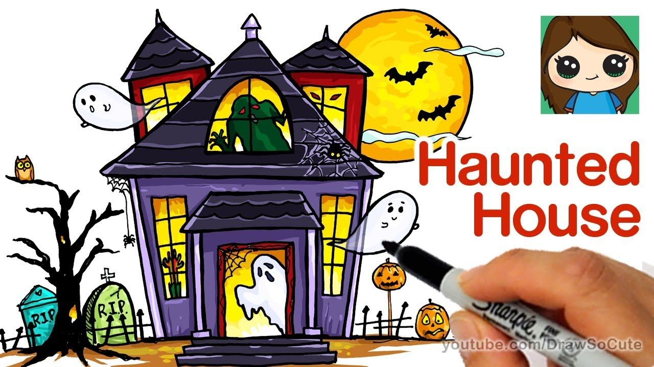 How to Draw a Haunted House Easy YouTube Haunted house