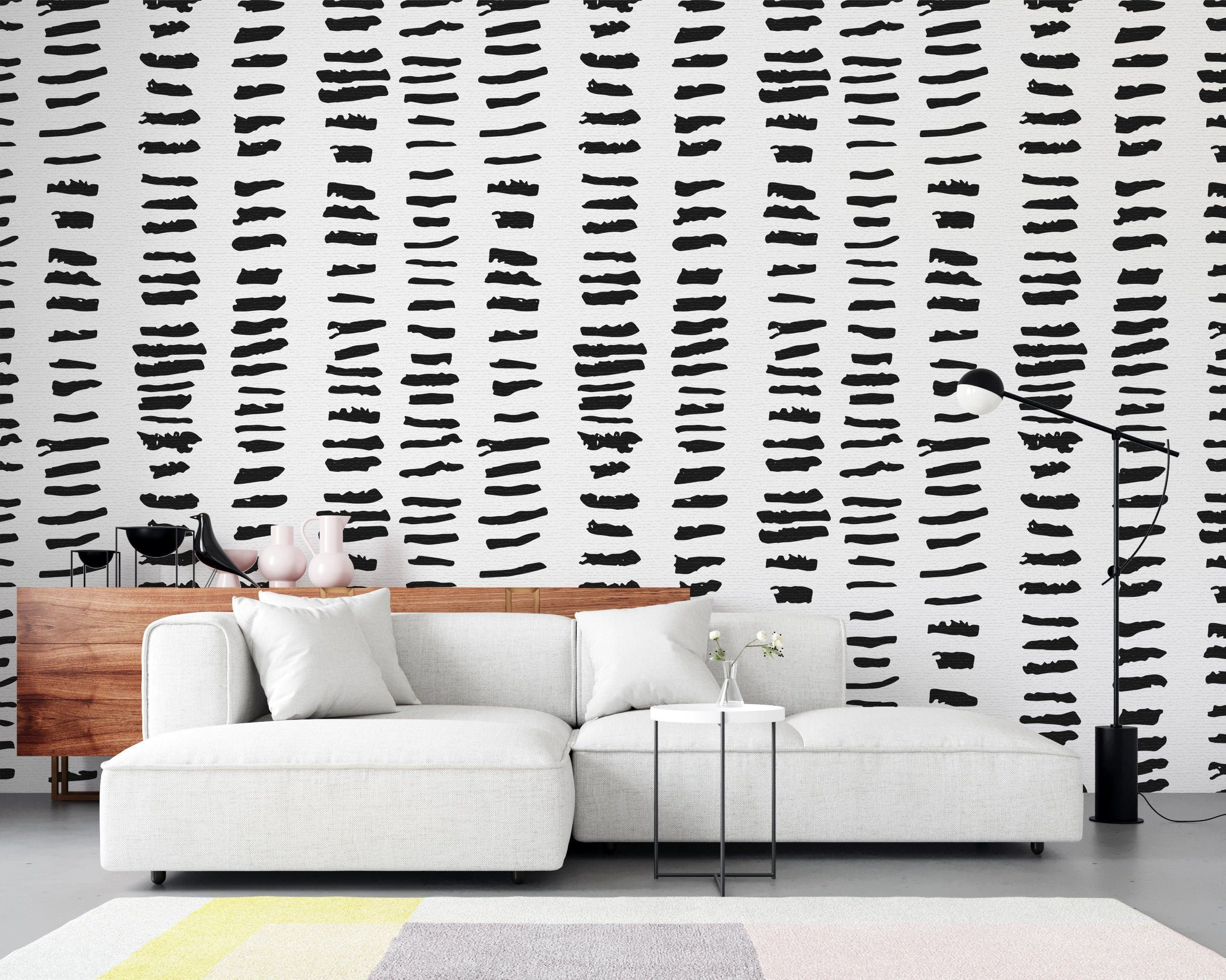 Geometric Striped Removable Wallpaper Reusable Wall Art Peel And Stick Room Decor Self Adhesive Wall Mu Removable Wallpaper Kid Room Style Striped Wallpaper