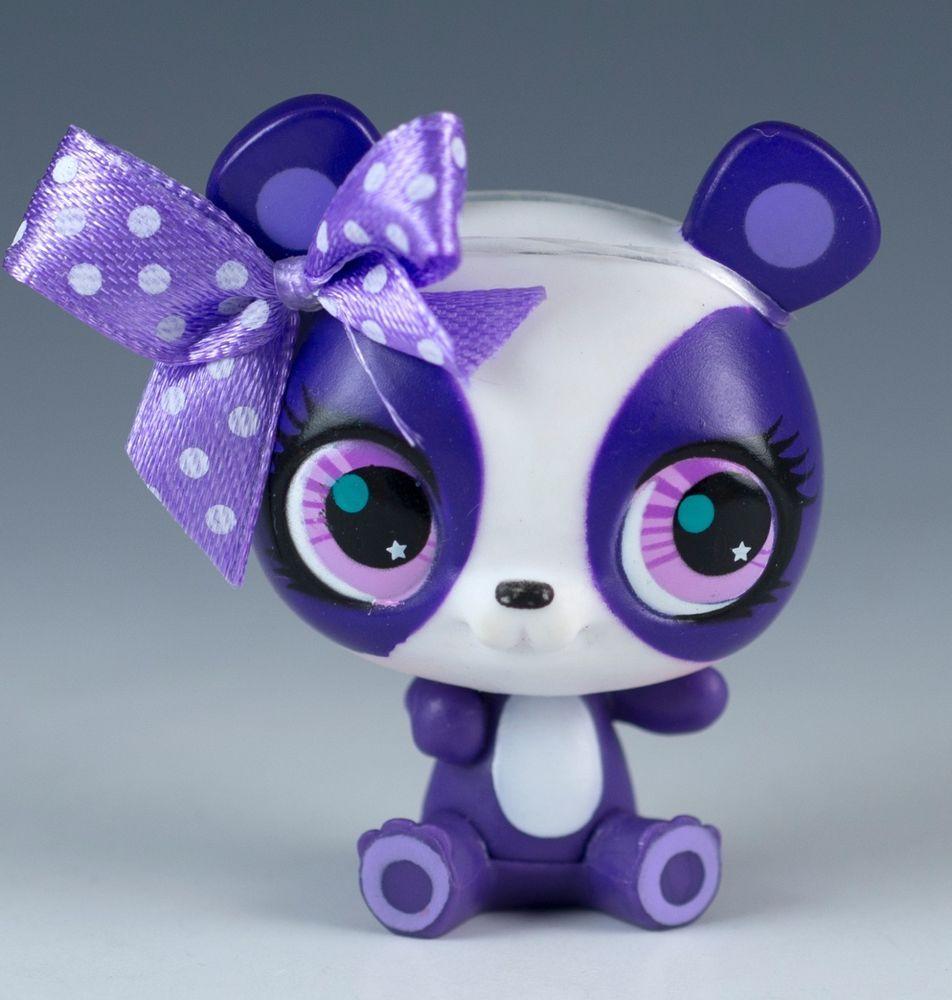 Littlest Pet Shop Penny Ling Panda Bear 2695 White And Purple With Pink Eyes Littlest Pet Shop Pet Shop Lps Littlest Pet Shop