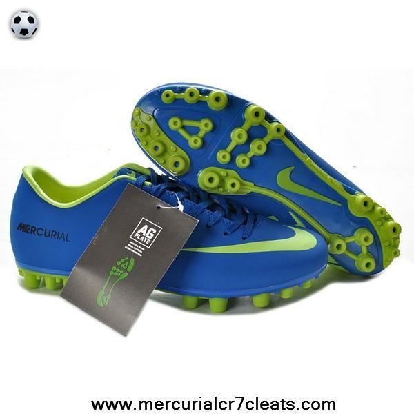 2014 Blue Green Nike Mercurial Vapor IX AG
