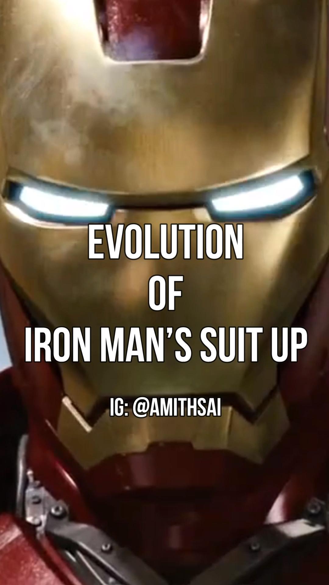 Evolution of Iron Man's suit ups | Iron Man Edit | Iron Man Whatsapp Status