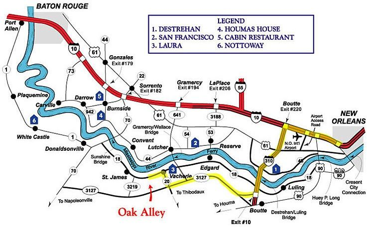 Map Of Louisiana Plantations.Printable Map Oak Alley Plantation Travel Louisiana