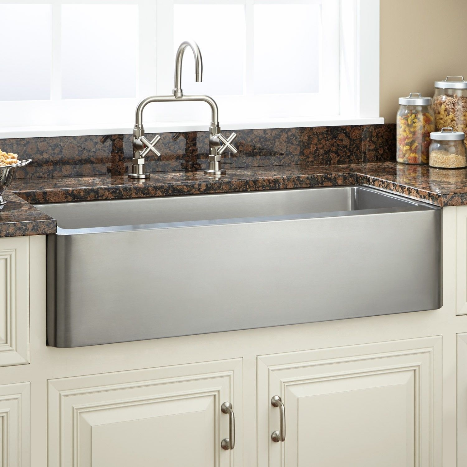 "33""+Hazelton+Stainless+Steel+Farmhouse+Sink+ Farmhouse"