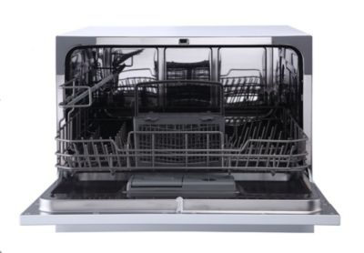 Spt Countertop Dishwasher With Delay Start Led Silver Silver Countertop Dishwasher Mattress Furniture Countertops