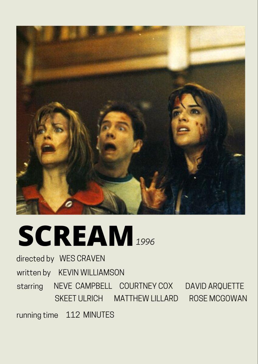 scream minimalist poster