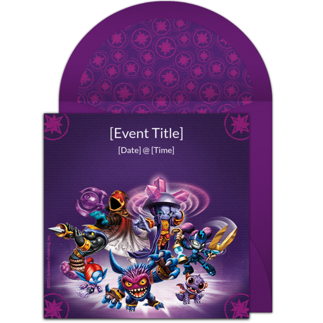 Free Skylanders Invitations Colorful Online You Can Personalize And Send Via Email For A Video Game Birthday Party