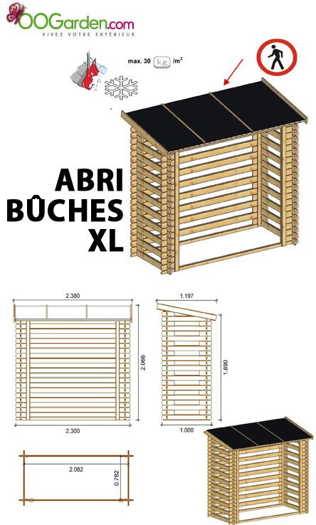 abri b ches en bois 5 st res xl maison jardin pinterest abri bois refuges et bois. Black Bedroom Furniture Sets. Home Design Ideas