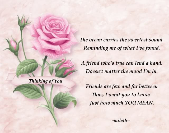 thinking of you and our relationship poem