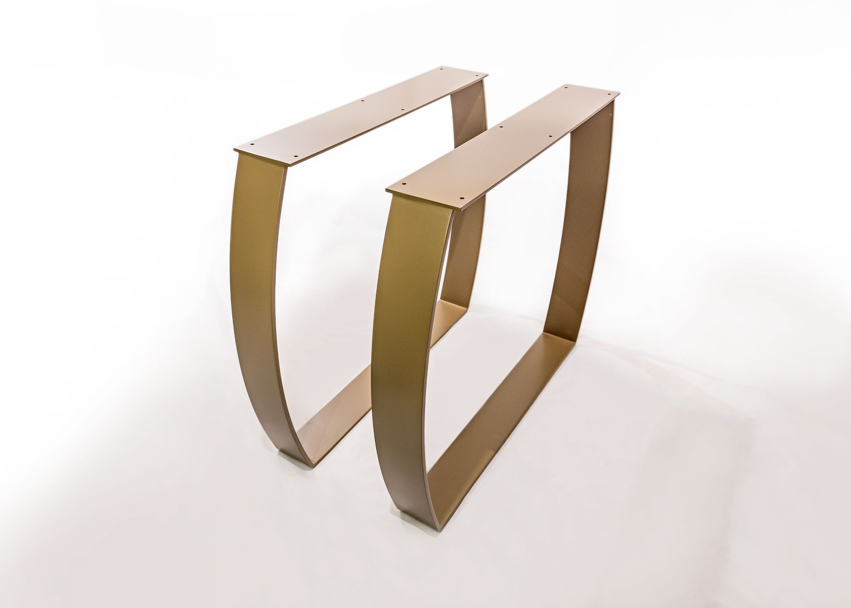 Gambe per tavolo da pranzo verniciate color oro | ArtRulesLab ...