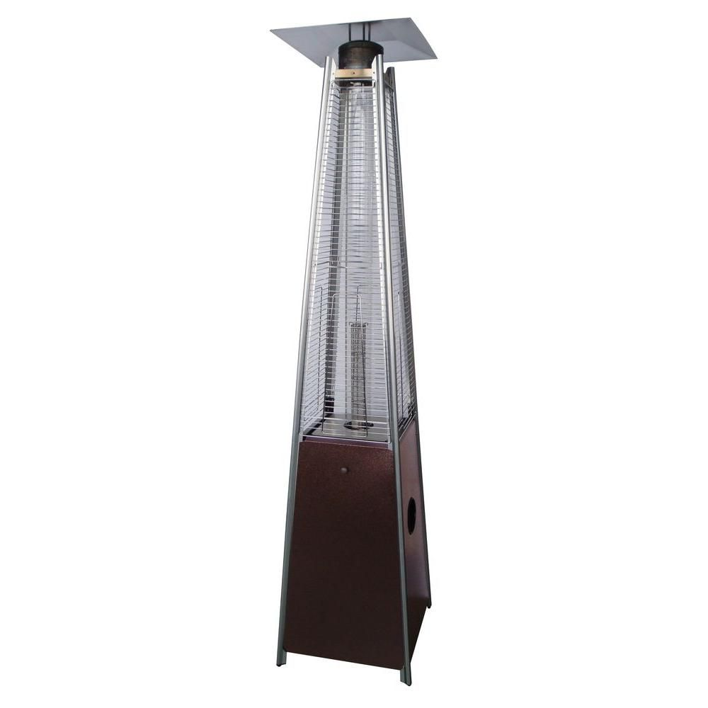 AZ Patio Heaters 40,000 BTU Quartz Glass Tube Hammered Bronze Gas Patio  Heater