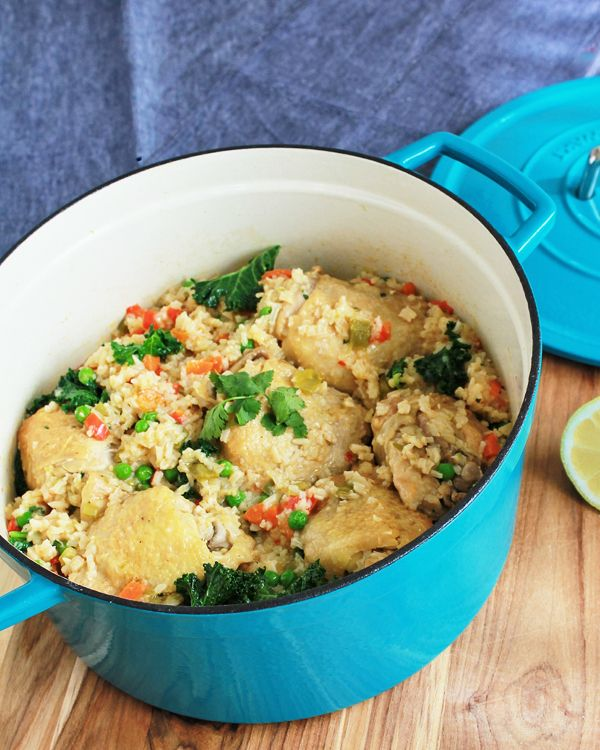 Arroz Con Pollo (with tons of veggies) | Big Girls, Small ...