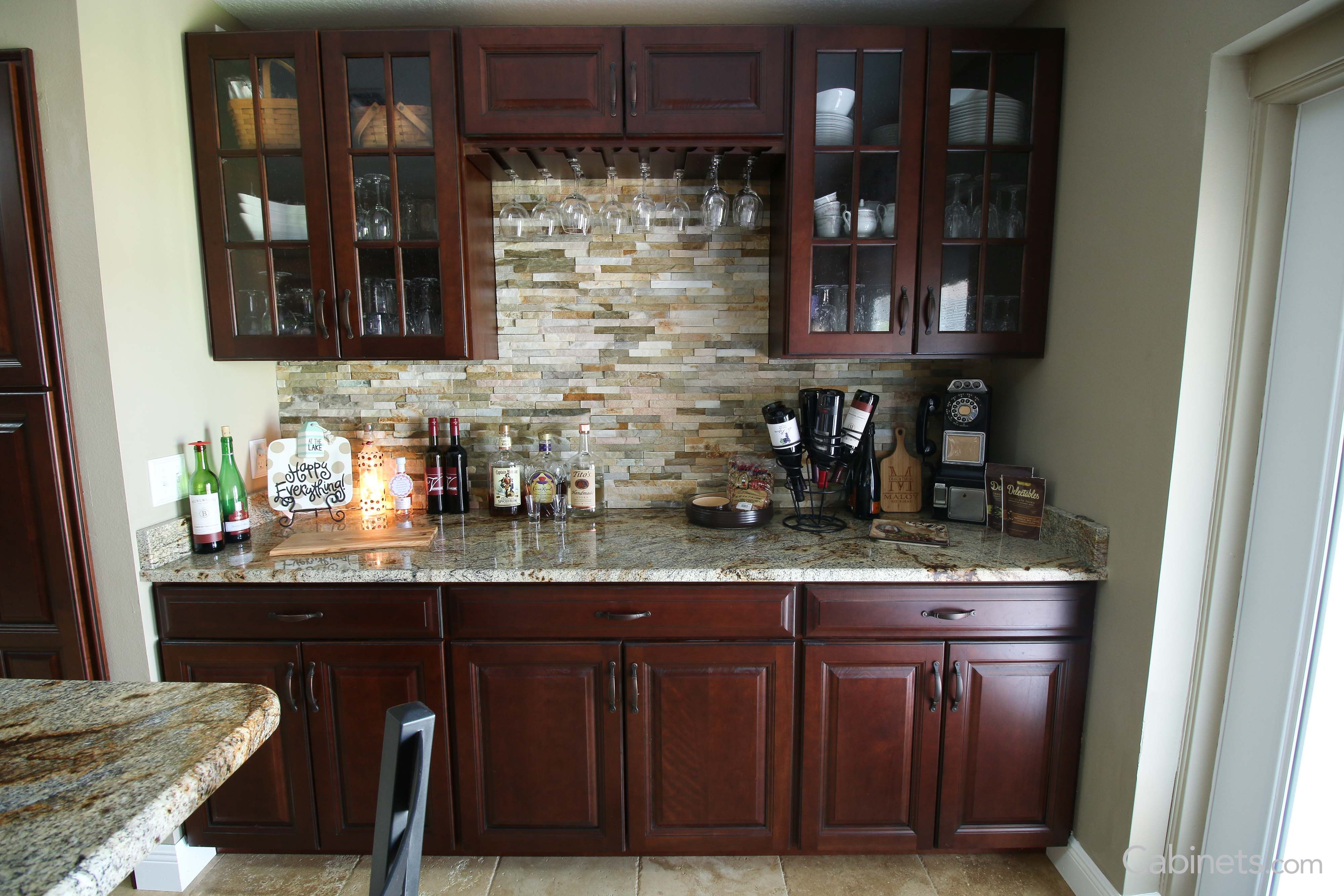 The Picture Features Our Jupiter Cherry Java Coffee Glaze Cabinets Kitchen Cabinets Kitchen Color Combos Kitchen Remodel