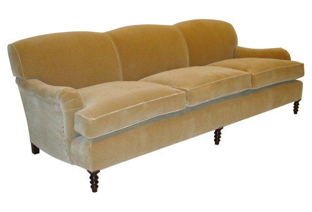 Standard 96 Quot Mohair Velvet Sofa Beige Velvet Sofa Sofa