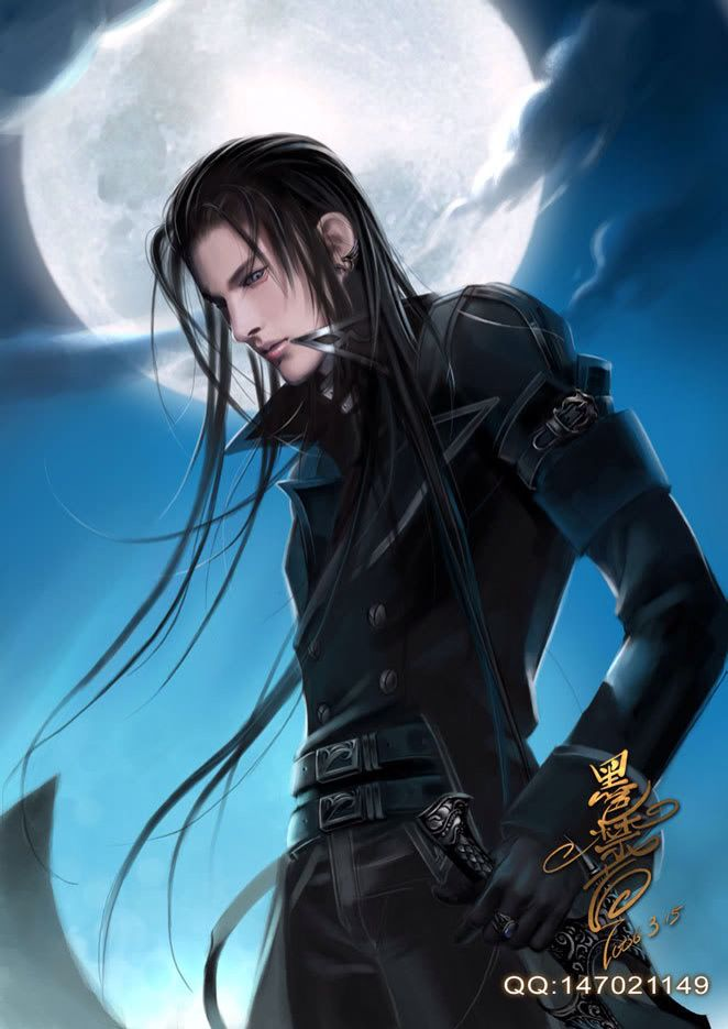Dessin Homme Cheveux Longs Noirs Man With Long Hair Image