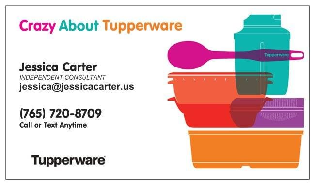 Tupperware Business Card Cards Visit Carte De Visite