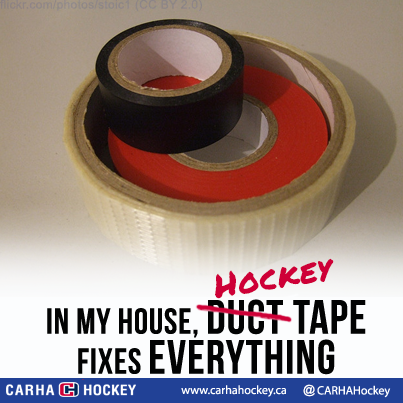 In My House Duct Tape Nope Hockey Tape Fixes Everything Hockey Humour Funny Hockeymom Hockeydad Hockeyfamily Hockey Dad Hockey Tape Hockey