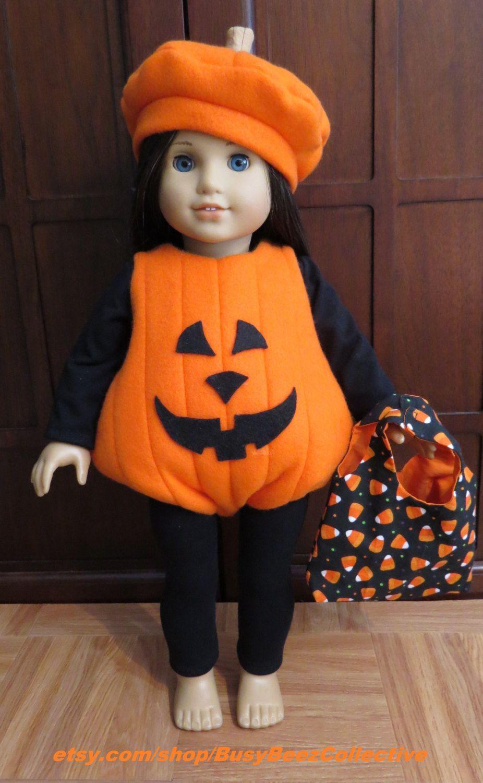 Halloween Pumpkin Tutu Dress /& Leggings for 18 inch American Girl Doll Clothes