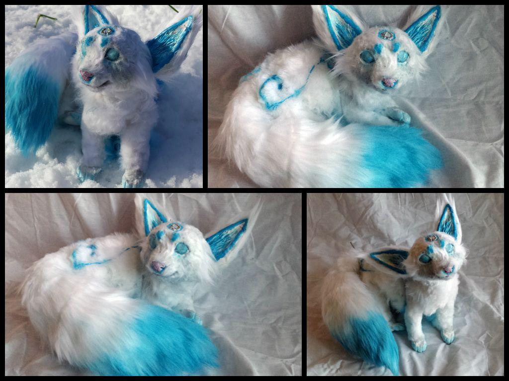 Baby inari fox for sale - Handmade Poseable Baby Ice Fox By Kaypeacreations On Deviantart