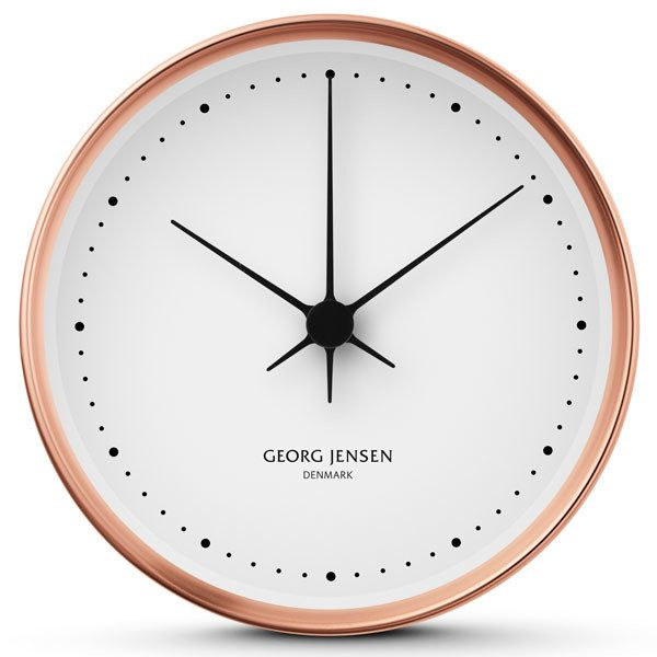 Pin By Photos Are Us On Cool Clocks Chic Wall Clock Wall Clock Design Copper Home Accessories