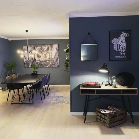 Photo of 10 hjem malt i Jotun spisestue med kveldshimmel. Kamilla Wigestrand