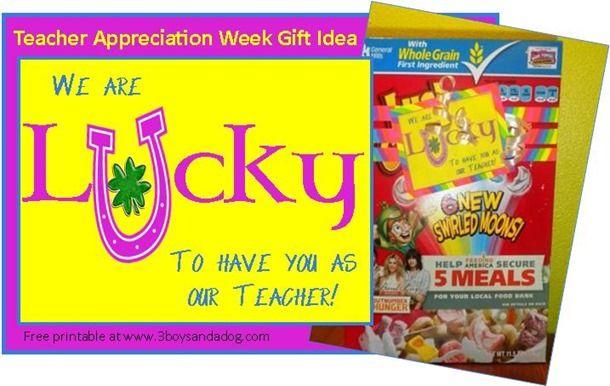 We Are Lucky Teacher Appreciation Gift Teacher Appreciation