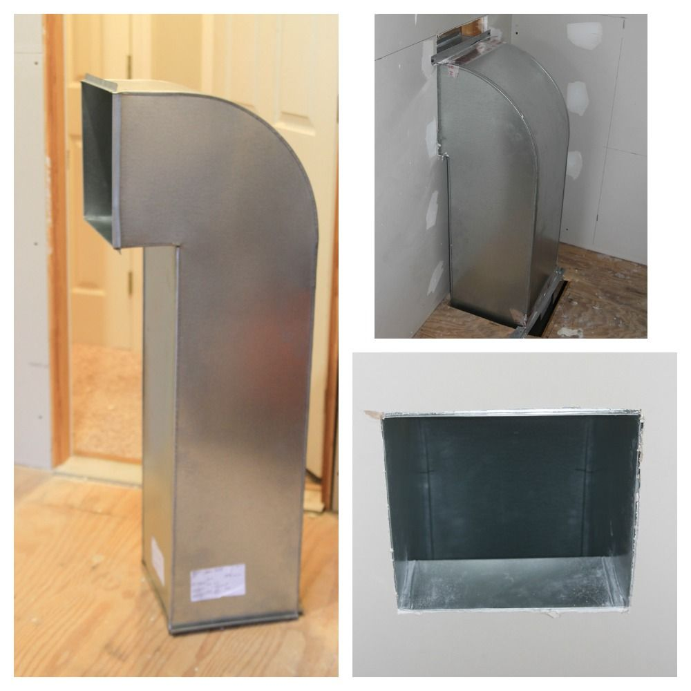 Custom Laundry Chute Made Out Of Galvanized Steel One End Opens