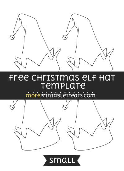 Free Christmas Elf Hat Template Small Elf Hat Template Hat
