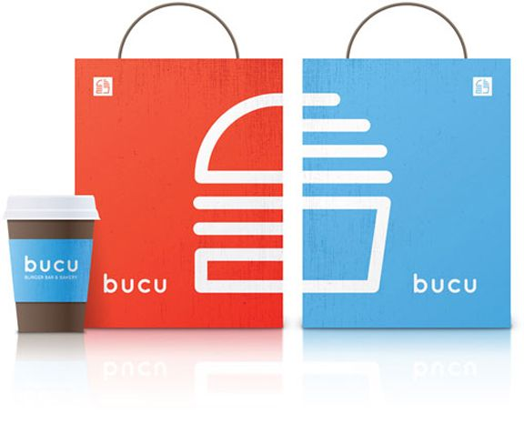 BUCU Burger Bar and Bakery #packaging