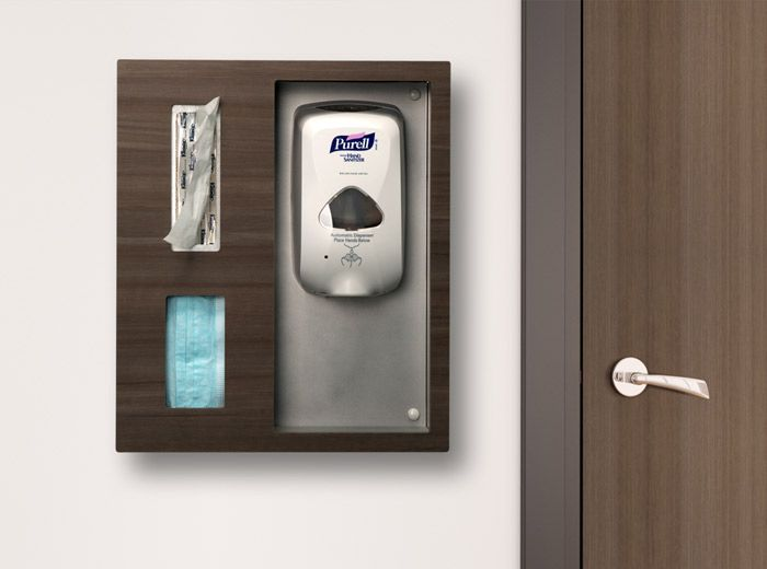 purify sanitizer stations sanitizer gloves masks on disinfectant spray wall holders id=63755