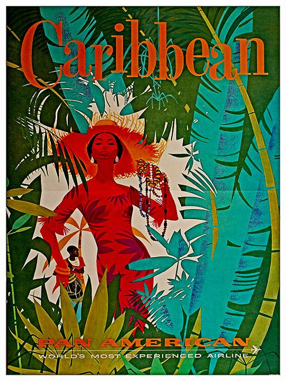 Caribbean Travel Poster Wall Art Print (ZT304)