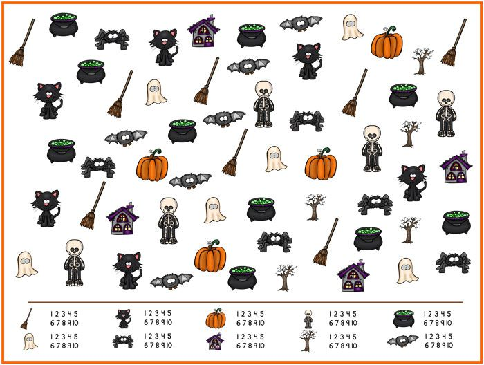 Halloween I Spy Game | Spy games, Spy and Number recognition